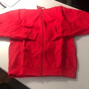 American Apparel red unisex hoodie size medium